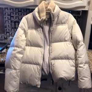 Coach Coat. Winter white, down filled. M